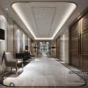 Luxury Hotel Lobby With Armchair Interior Scene