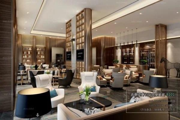 العتيقة تصميم فندق صالة الفضاء المشهد الداخلي