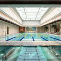 Two  Indoor Swimming Pools Interior Scene