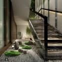 Indoor Japanese Garden Style Interior Scene