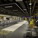 Industrial Style Treadmill Gym Room Interior Scene
