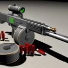 مستقبلية قناص بندقية مفهوم