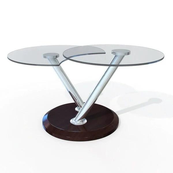 furniture small round glass coffee