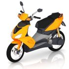 Yellow Moped Scooter