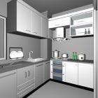 L Shape Corner Kitchen Design