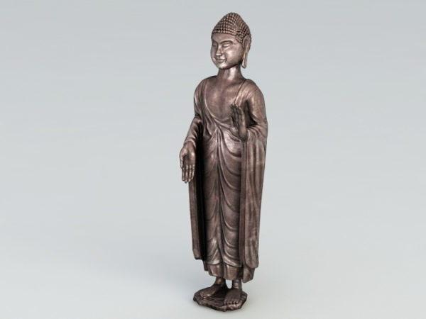 Antigua estatua de Buda de bronce