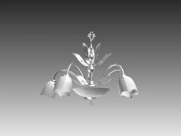 Flower Design Crystal Chandelier