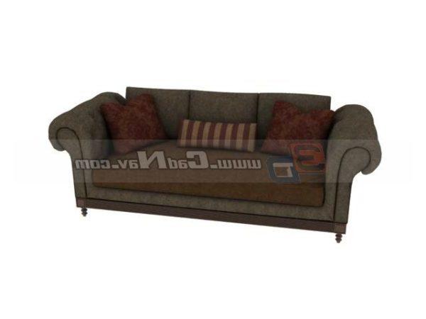 Furniture Living Room Sofa Settee Free 3ds Max Model Max