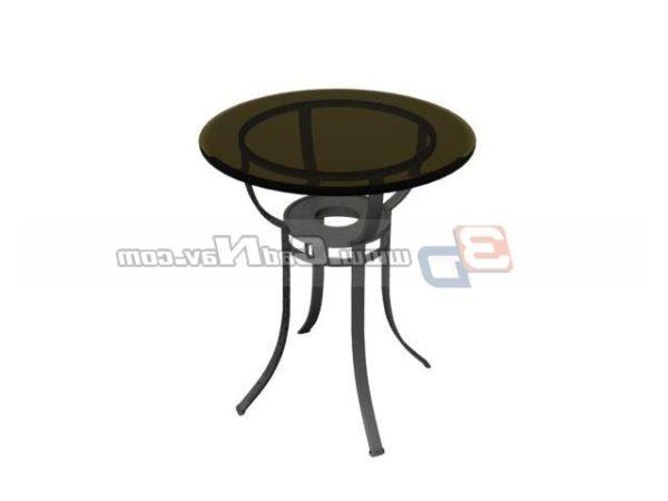 Mobilya Yuvarlak Cam Cafe Masası