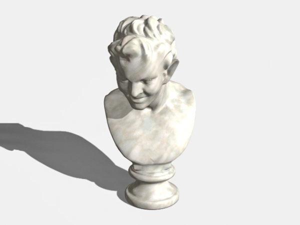 Estatua de busto de satiro antiguo occidental