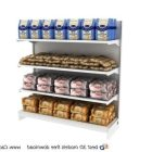 Supermarket Shelf And Breads