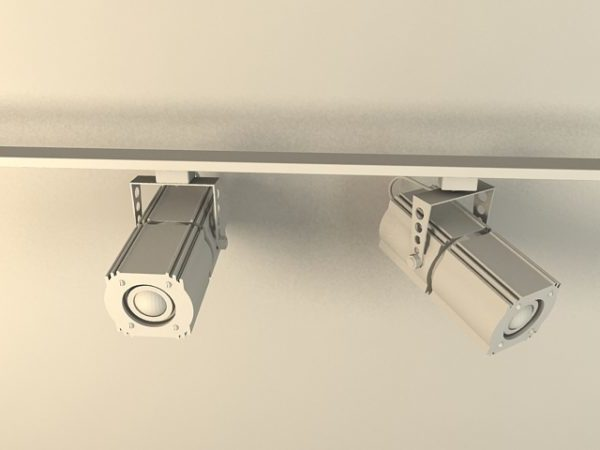 studio track lighting spotlight free 3d