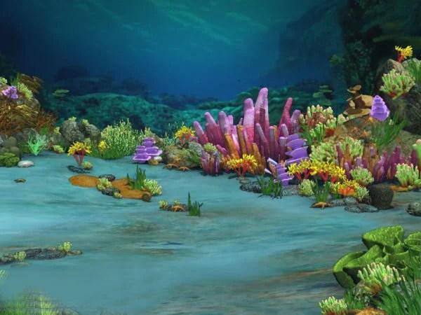 Landscape Underwater Ocean Scene