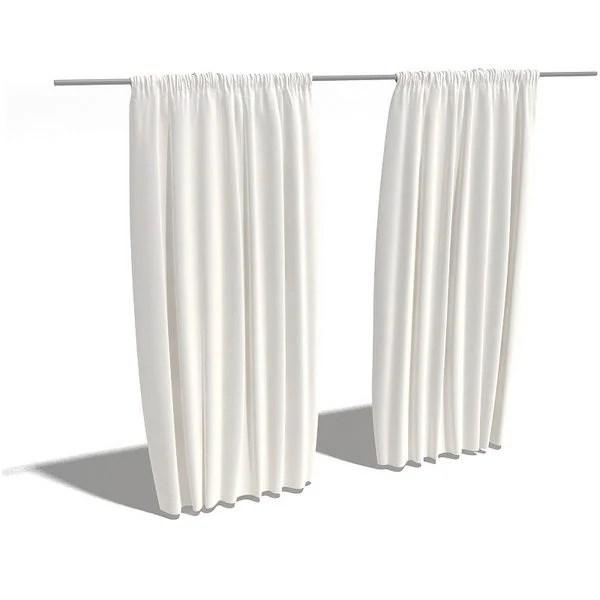 windows backdrop curtain free 3d model