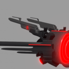 Evil Drone Sci-fi Airplane
