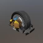 Sci-fi Mono Wheel Drone Vehicle
