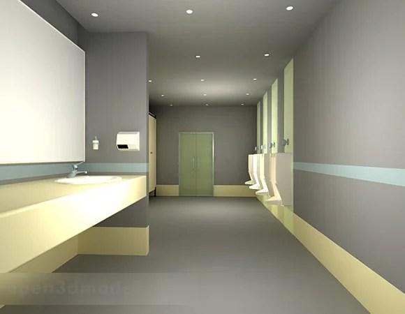 Public Toilet Design Free 3d Model - .Max - Open3dModel ... on Model Toilet Design  id=64111