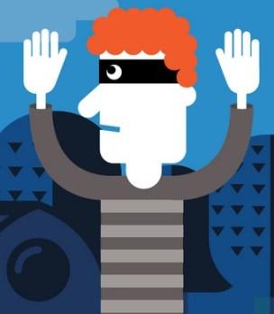 Cartoon robber