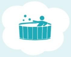 Hot tub clipart