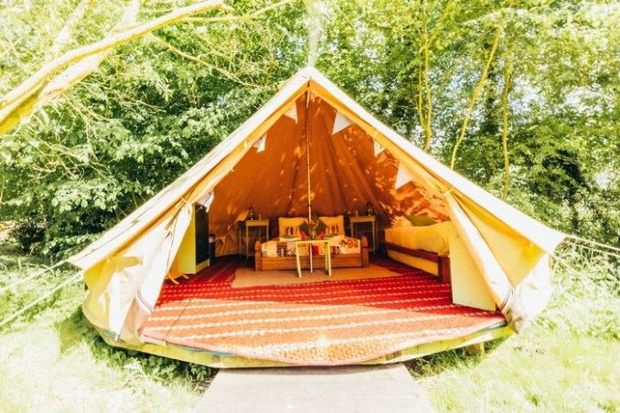 West Lexham farmhouse tent