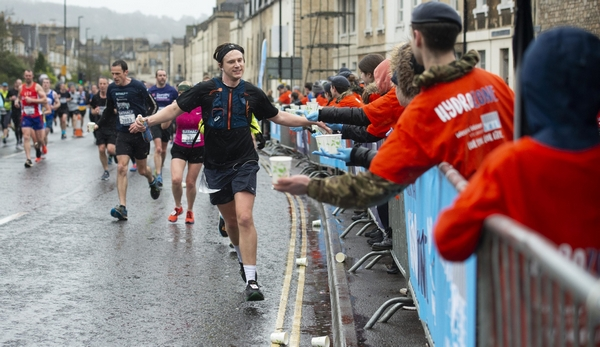 Man completing Bath Half Marathon