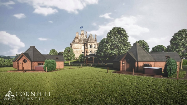 Proposed lodges at Cornhill Castle
