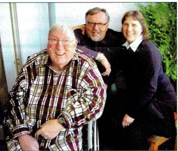 Rudkin mit Ulrich und Anne Hofius