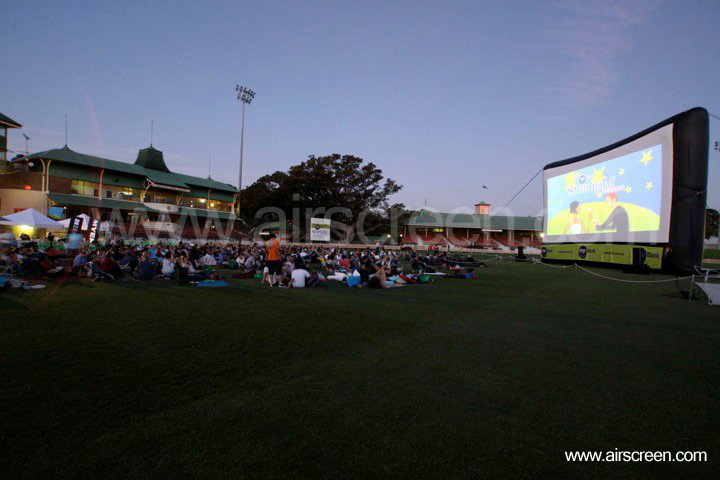 outdoor cinema with AIRSCREEN