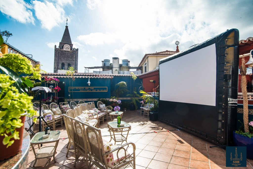 Rooftop cinema festival on madeira