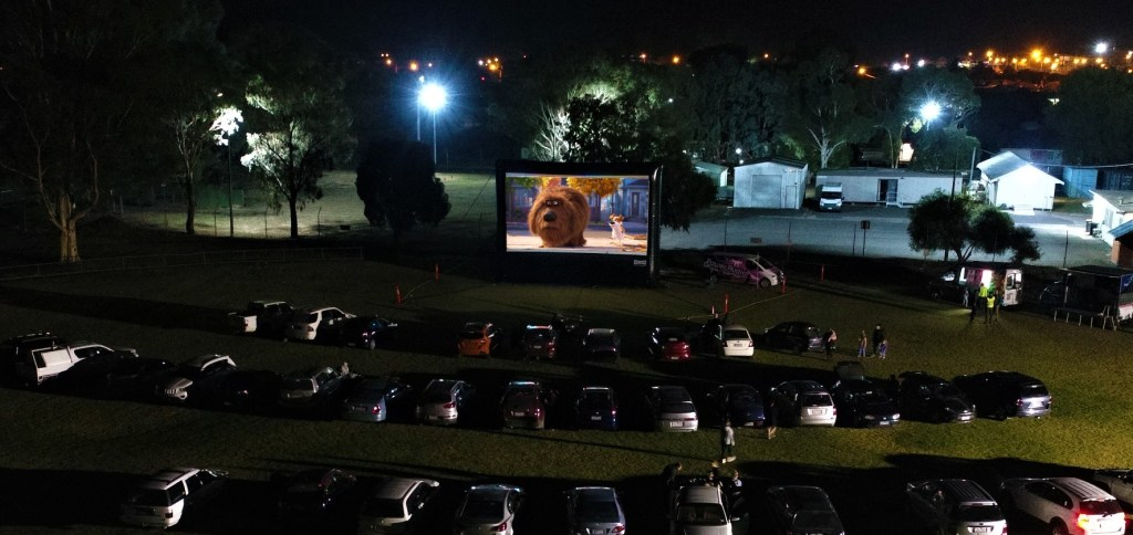Drive-in cinema with AIRSCREEN in the US