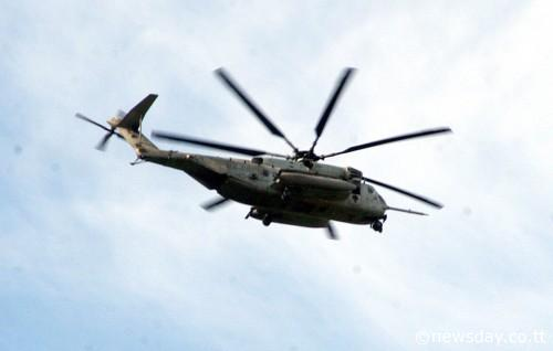 U.S. Marine Sea Stallion over Barataria, Trinidad on Sunday