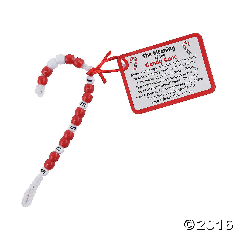Candy Cane Nativity Ornament Craft Kit 12pk Party