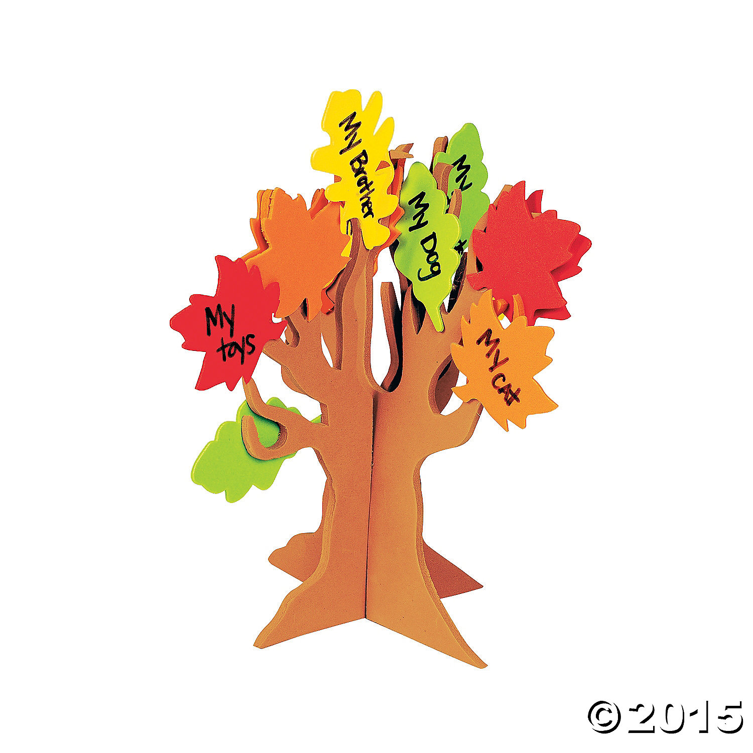 Standing Tree Of Thanks Craft Kit 12 Pk Party Supplies