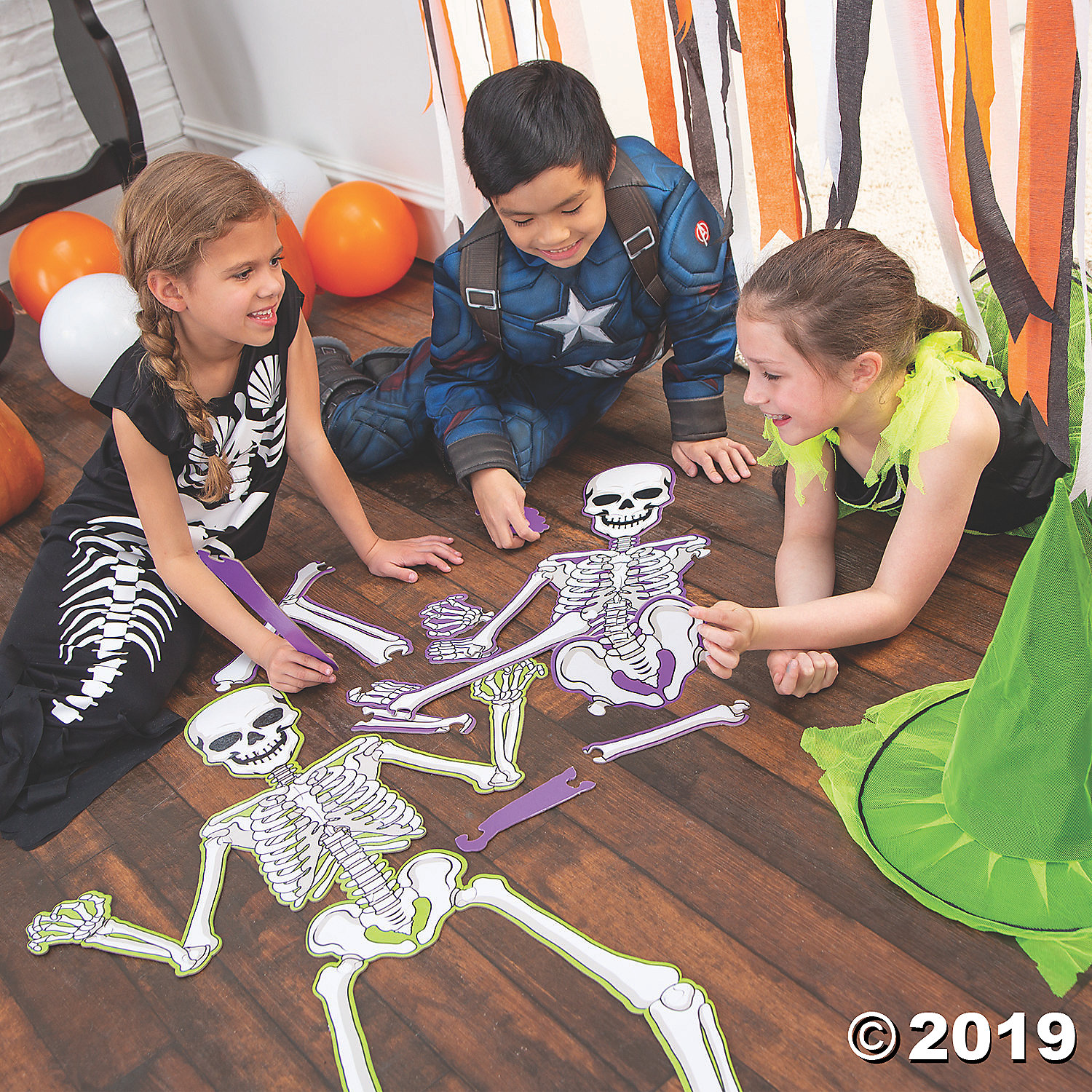 Skeleton Puzzle Scavenger Hunt Game Party Supplies Canada