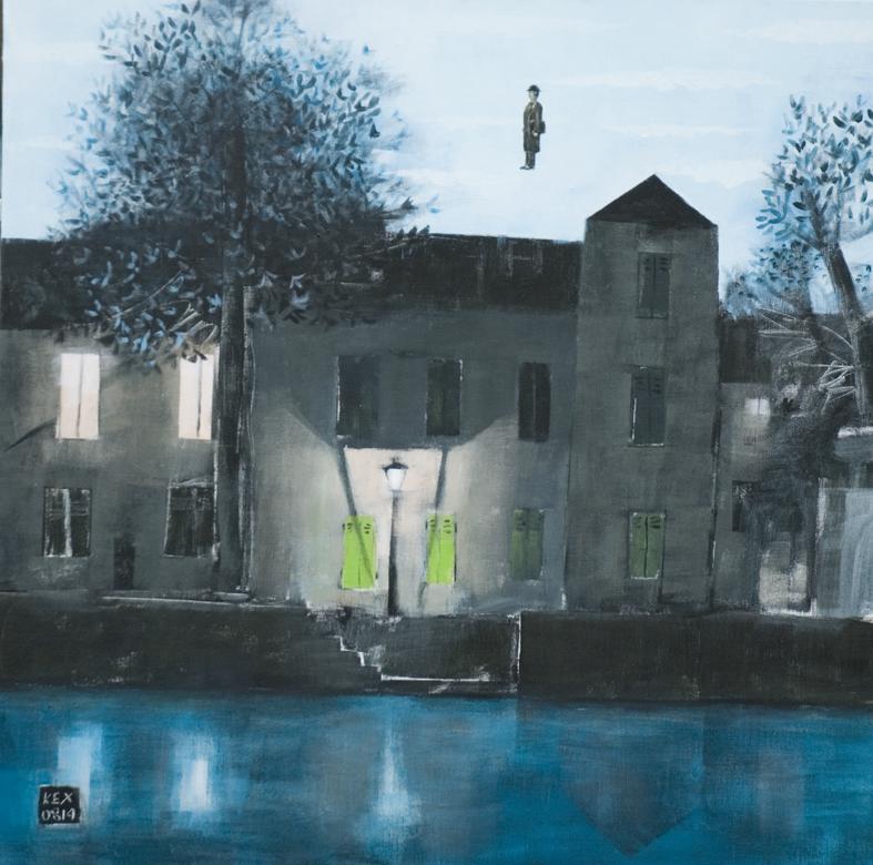 με τον Magritte πάνω από το σπίτι 75Χ75