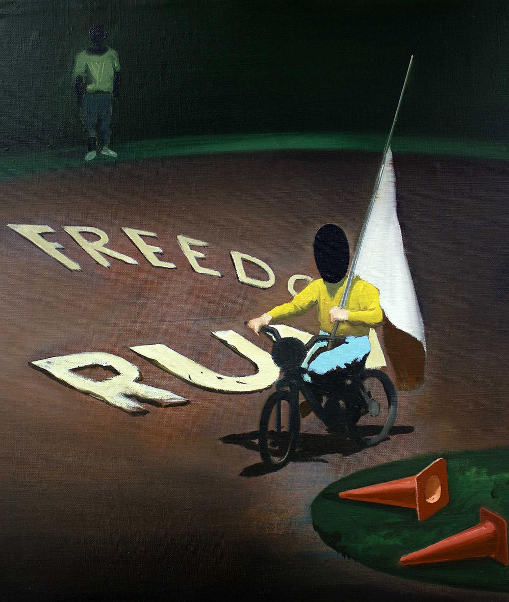 13. Mihael Milunovic, Freedom Run, 2015, oil on canvas, 60 Χ 50 cm