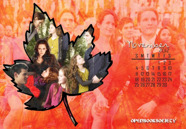 BREAKING DAWN PART 2 NOVEMBER CALENDAR WALLPAPER