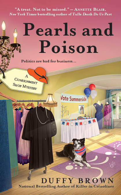 PEARLS AND POISON (CONSIGNMENT SHOP MYSTERIES, BOOK #3) BY DUFFY BROWN: BOOK REVIEW