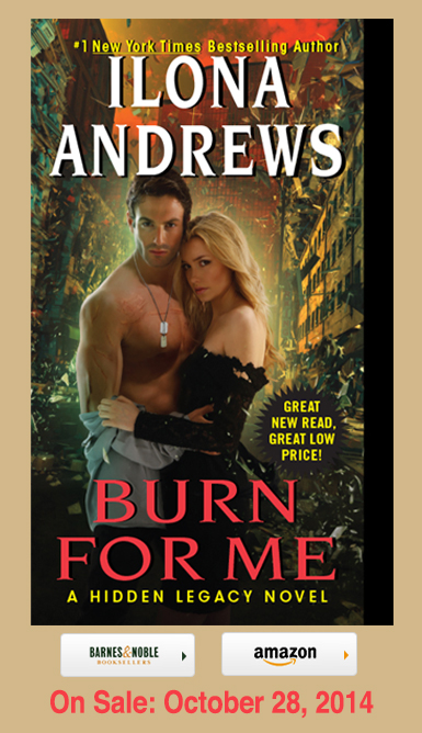 ILONA ANDREW'S COVER REVEAL: BURN FOR ME