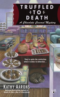 TRUFFLED TO DEATH (A CHOCOLATE COVERED MYSTERY #2) BY KATHY AARONS: BLOG TOUR BOOK REVIEW