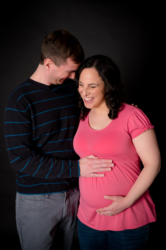 True love and laughter maternity photo