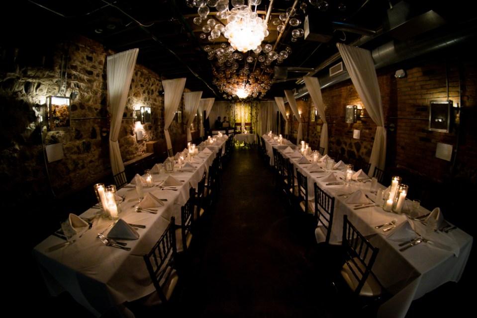 Vinology wedding reception set up
