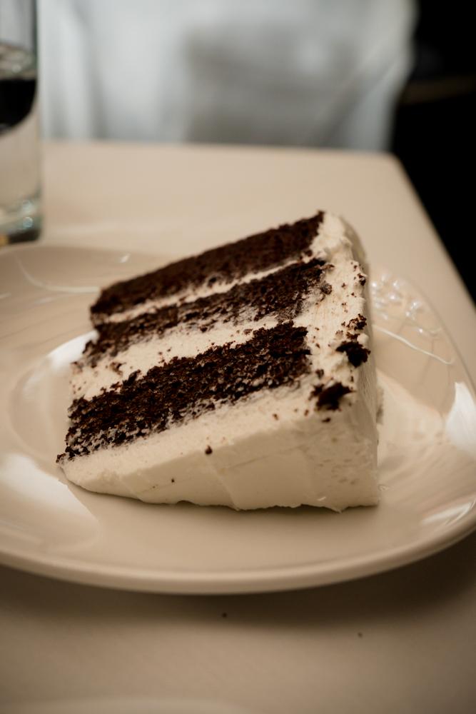 Slice of the wedding cake