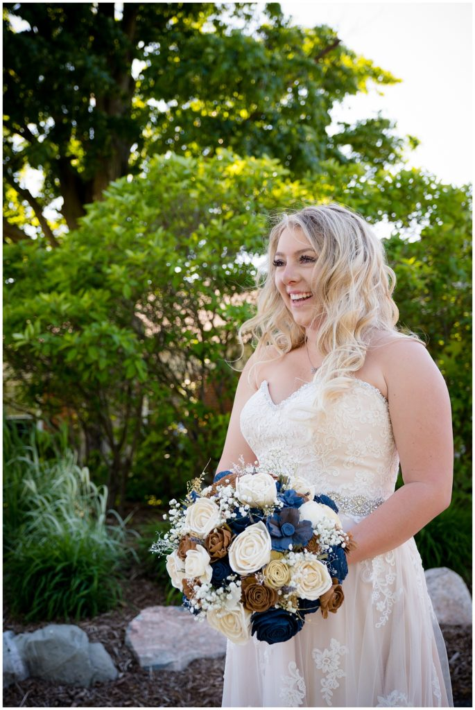 Beautiful bride on her wedding day!