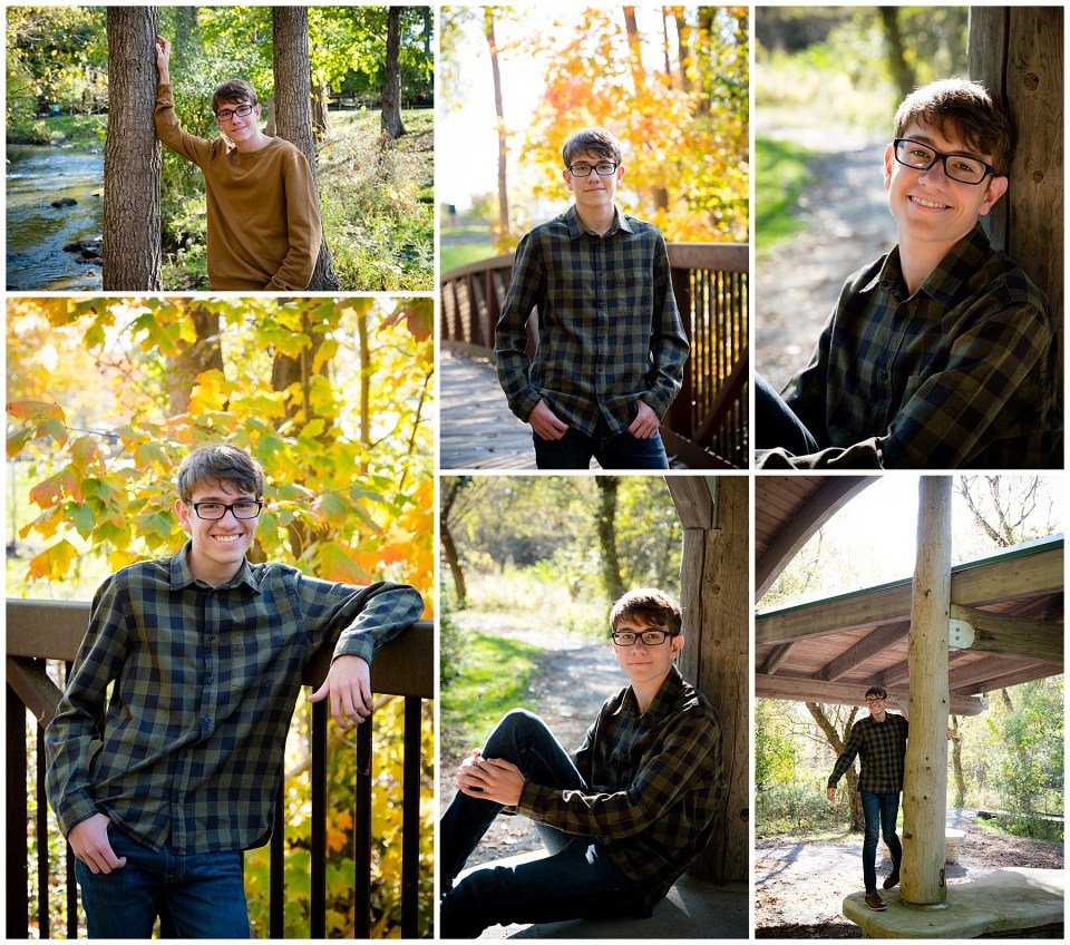 Michigan High School Senior Photos at Parker Mill County Park