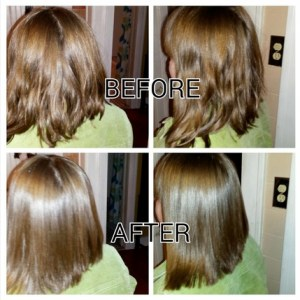 xtava flat iron before and after