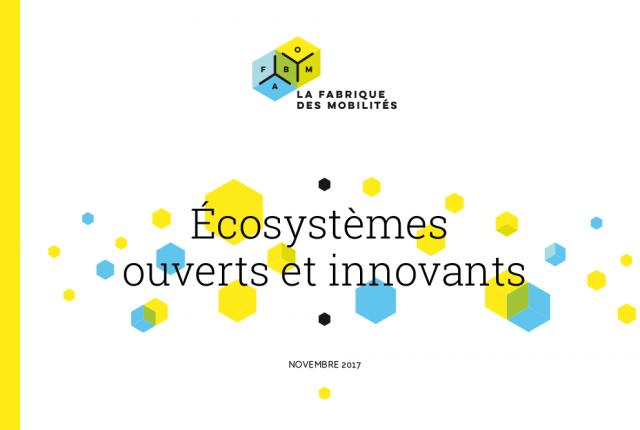 Note «Écosystèmes ouverts & innovants» avec la Fabrique des Mobilités