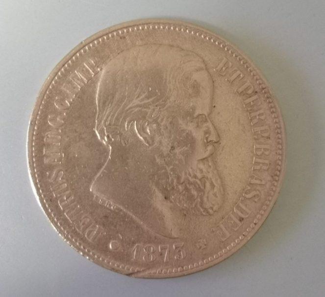 A 40 réis coin from 1873 - back