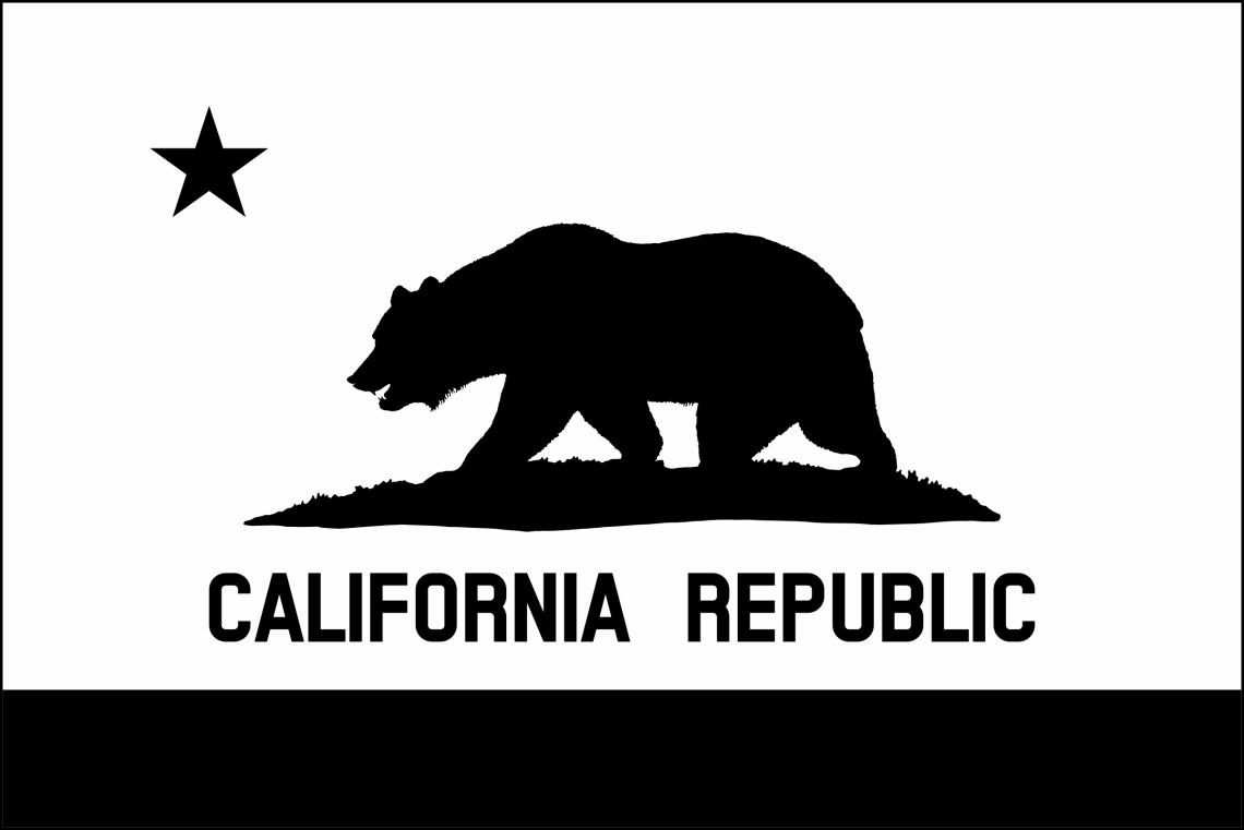 Download Clipart - Flag of California (thin border, monochrome, solid)