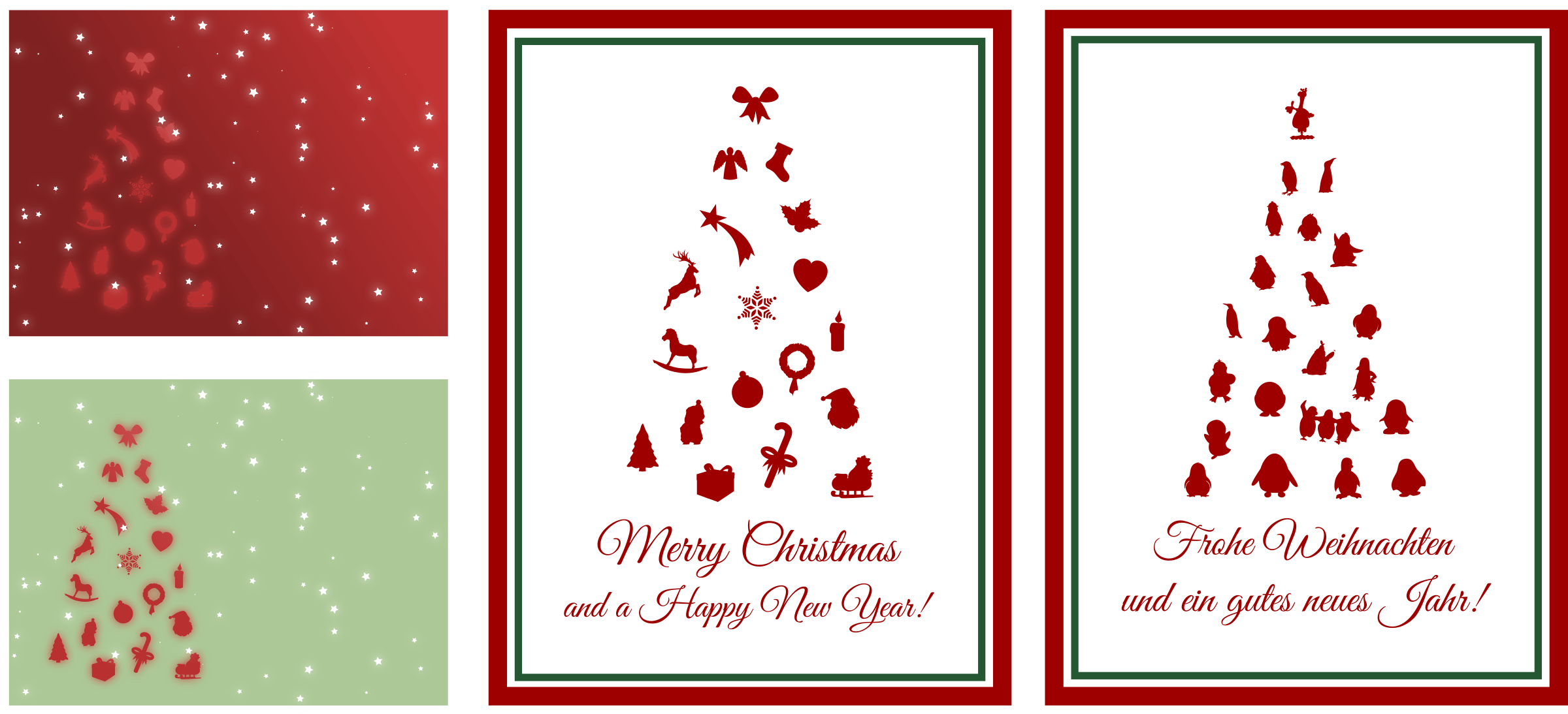 Clipart Assorted Christmas Cards